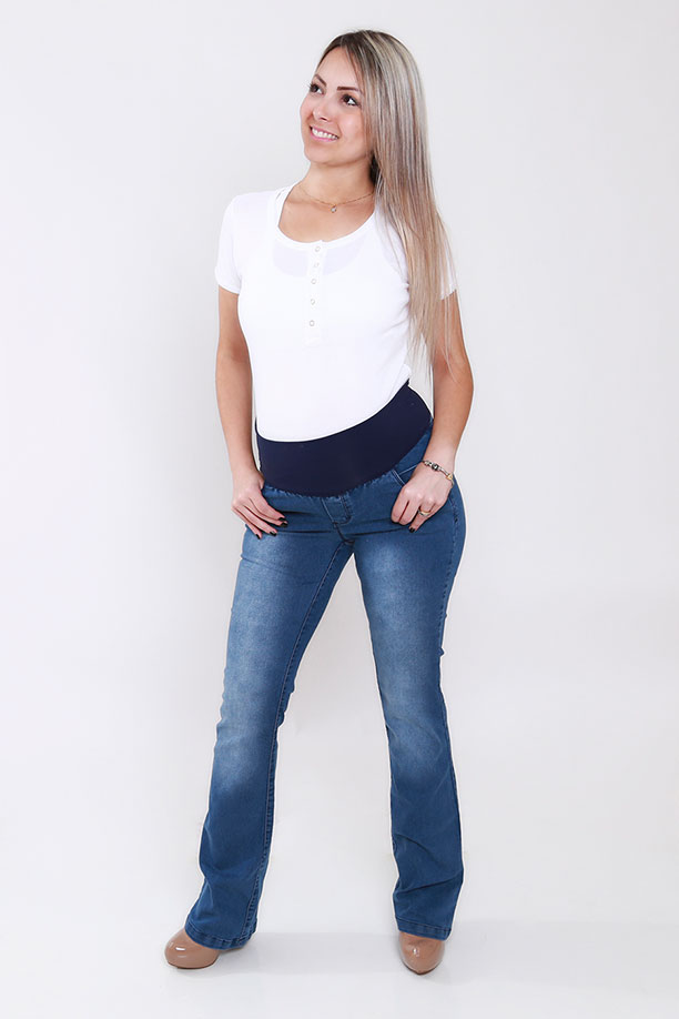 1103 - Calça Jeans Flare