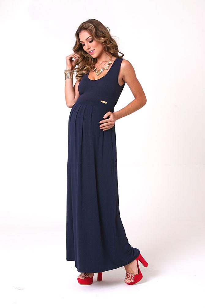1110 - Vestido Ana Longo Liso