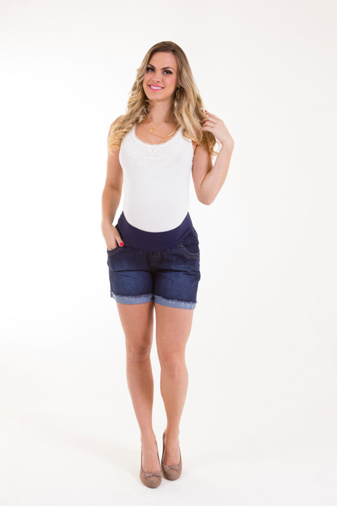 1115 - Shorts Carol 2 Barra Desfiada