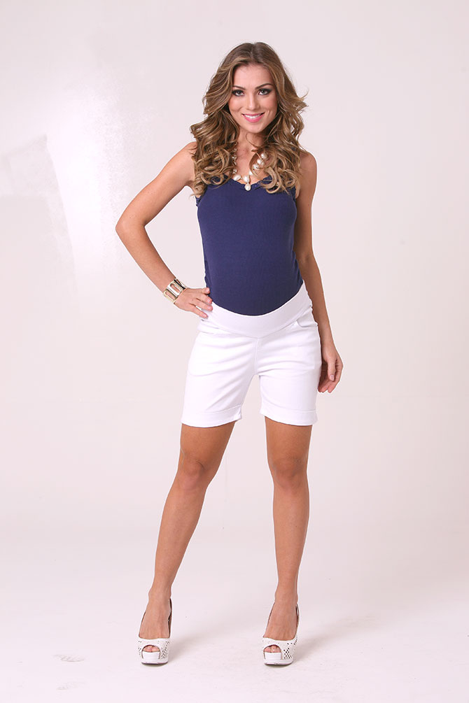 1131 - Shorts Marte Sarja Barra Branca